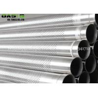 Straight In Line Pattern Perforated Metal Pipe based pipe casing For Wholesale Manufactures
