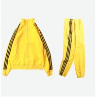 Dry Fitted Striped 100% Cotton Mens Sports Tracksuits High Street Style Manufactures