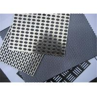 Roll Bending Perforated Wire Mesh Iron / Stainless Steel / Copper / Aluminum / Galvanized Zinc Manufactures