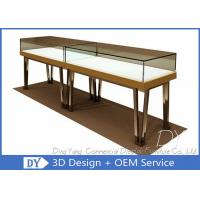 Modern Gold Stain Steel Commercial Jewelry Display Cases With Led Manufactures