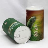Quality SGS Food Grade Cylinder Paper Composite Cans for Flower Tea , Fruit Tea And Coffee for sale