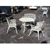 China Aluminum / Cast Iron Bistro Table And Chairs Decorative Customized Size on sale