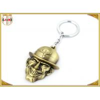 Brass Plated Metal Key Ring , Customised Key Chains With Free Laser Engraved Logo Manufactures