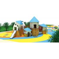 China Outdoor Backyard Waterproof Children House Garden Child Wood Play House Kids Wooden Playhouse With Slides on sale