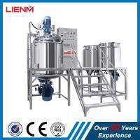 PLC Control Cosmetic Face Cream Hydraulic lifting vacuum homogenizer emulsifier mixing machine with water and oil tank Manufactures