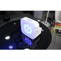 Quality Battery Powered 12 x 15w RGBWA Wireless LED Par Cans Light High Power LED Flat for sale
