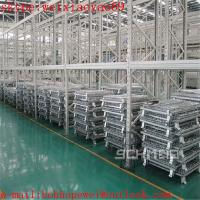 China Foldable Warehouse wire mesh container cage/security cage/pallet cage/metal bin/industrial storage cabinets/cage storage on sale