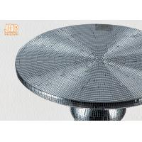 Quality Two Size Glass Fiberglass Furniture Pedestal Plant Stand Round End Table for sale