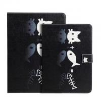 Ultra Slim Cat Cartoon  PU Leather Magnetic Light Weight Cover Tablet Case For iPad Air