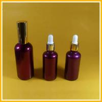 Fragrance Glass Essential Oil Bottles Electroplated With Tamper Evident Dropper Manufactures