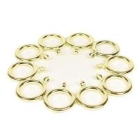 25mm Painting Gold Color Curtain Rod Rings And Finials For Decorative , XFY018f Manufactures