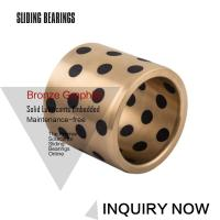 China C86300 430B Manganese Cast Bronze Flanged Graphite Bushing Bearing & Plate Oil Grooves on sale