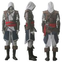 China Game Costumes Wholesale Assassin's Creed IV 4 Black Flag Edward Kenway Cosplay Costume Whole Set Custom Made on sale