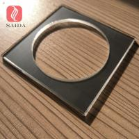 Ultra clear low-iron thermal heat tempered glass 4mm with CNC hole and polished for sale