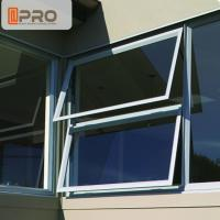 Quality Sound Proof Insulation Top Hung Aluminum Awning Windows / Glass Top Hung Windows for sale