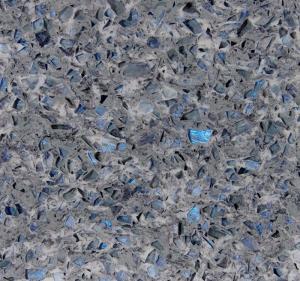 Stone Cutting Artificial Quartz Jewelry Blue Abrasion Resistance Quartz Stone Slab
