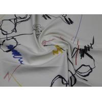 Graffiti Style White Faux Leather Fabric , Waterproof High Grade PU Leather Manufactures