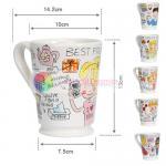 cute couple cup European ceramic 500ml mug girl's and boy's coffee cup milk mug water mug office use Manufactures