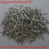 Quality glued high tensile strength 1100-2850 steel fiber for highway airport pavement for sale