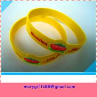 China factory direct sale printed silicone wristband on sale