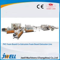 China Jwell hot sale PVC WPC foaming co-extrusion semi- skining extrusion line on sale