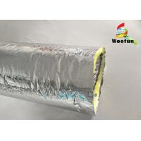 Air Ventilation Flexible HVAC Duct Insulation Wrap Aluminum Foil With Glass Wool Manufactures