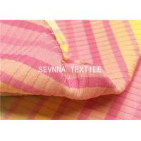 Jacquard Textured Stripes Recycled Swimwear Fabric Ink Jet Digital Print Customized Manufactures