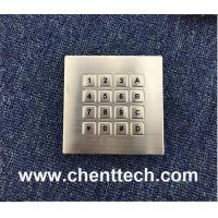 rugged water sealed metal keypad for vending machine Manufactures