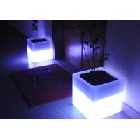 Square Illuminated Plant Pots Multicolor Change Round Glow In Dark Flower Pots Manufactures
