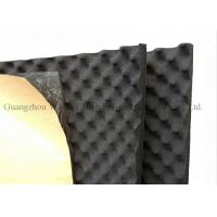 Black Egg Crate Acoustic Foam Panels 12mm Thickness Rubber Acoustic Sound Panels Manufactures