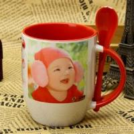 Photo Custom A B Grade Personalized Kids Mugs , Porcelain Eco Friendly Mugs Manufactures