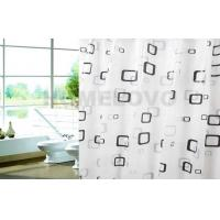 Custom Printed waterproof Plastic Shower Curtain / hotel extra long shower curtains Manufactures