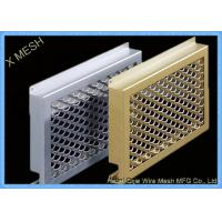 Oval Hole Perforated Metal Mesh , Punch Plate Screens Anodizing Aluminum Alloy 1100