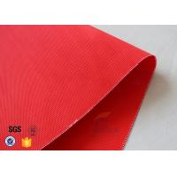 Red Acrylic Coated Fiberglass Fabric For Industrial Fire / Welding Blanket Manufactures
