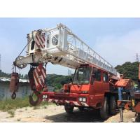 China Manual Transmission 50 Ton Used Truck Crane TG500E With Fully Hydraulic Truck Crane on sale
