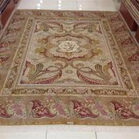 Aubusson Style Hand Knotted Wool Area Rugs With Fringe Soft Feature Manufactures