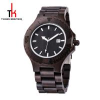 Black Mens Watch Wood Face All Made Out Of Wood Miyota Movement Manufactures