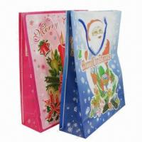 Paper Carrier Bags for Christmas, Fashionable and Suitable for Gift Purposes Manufactures