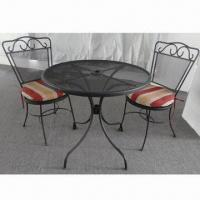 Stock NAPA 3-piece Bistro Set, Made of Steel + Charcoal Paint Material Manufactures