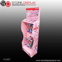 customized stationery cardboard display stand with peghooks Manufactures