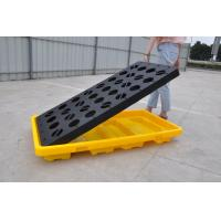 Polyethylene Spill Containment Pallets With Drains For Oil Drums / Chemical Barrels Manufactures
