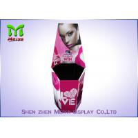 Cmyk Corrugated Paper Cosmetic Display Stand / Dump Bins Retail For Make Up Shops Manufactures