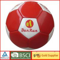Durable small indoor PVC red and white soccer ball size 5 official soccer football Manufactures