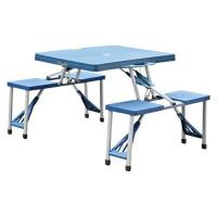 Blue Portable Plastic Camping Table Manufactures