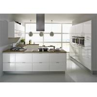 China Modern High Gloss Lacquer MDF Kitchen Cabinets With White Quartz Stone on sale