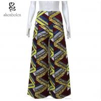 Colorful African Print Wide Leg Pants Floor Length Anti Wrinkle Plus Size Manufactures