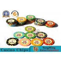 11.8g Colorful Casino Poker Chips And Cards / Custom Plaque Stickers Manufactures