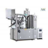Heavy Duty Tube Filling Sealing Machine , Cosmetic Tube Filling Machine With Stirrer Manufactures