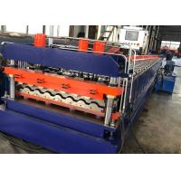 PPGI Steel Metal Roof Panel Roll Forming Machine 16 Rollers , 0.3-0.8mm Thickness Manufactures