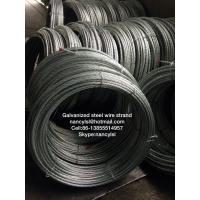 ACSR Conductor Galvanized Steel Wire Cable Strand With High Tensile Strength Manufactures